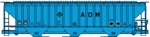 Accurail 81143 HO PS 4750 Covered Hopper ADM 112-81143 ACU81143