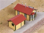 American Model Builders 194 HO Laser-Cut Wood Kit Boron Station 152-194