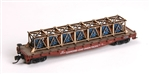 AMM519 American Model Builders N Generator Flat Car Load 152-519