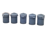 All Scale Miniatures 870846 HO Trash Can w/Lid 5/