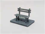 All Scale Miniatures 1600854 N Park Bench 5/