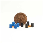 All Scale Miniatures 1600946 N Kit 4 ea Drums Blue & Black 10/