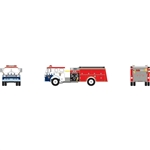 Athearn 10284 N Ford C Fire Truck Perryville/Bicentennial