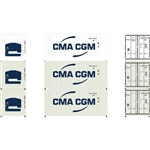 Athearn 17728 N 20' Reefer Container CMA/CGM (3)