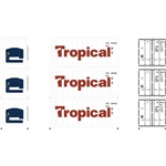 Athearn 17729 N 20' Reefer Container Tropical (3)