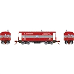 Athearn 24339 N Bay Window Caboose RJ Corman #9095