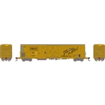 Athearn N FGE 57' Mechanical Reefer BNFE/Yellow/Ex-SLSF #9724