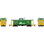 Athearn G78363 HO ICC Caboose w/ Lights & Sound Burlington Northern BN #10099