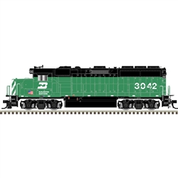 Atlas 10003496 HO EMD GP40-2 LokSound and DCC Gold Burlington Northern 3042 Cascade Green US Flag
