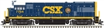 Atlas 10003786 HO GE U36B Standard DC Master Silver CSX 7764 MCVX Safety Train