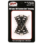 "Atlas 174 HO Custom-Line Crossing Code 100 45-Degree 3"" Ties"