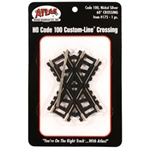 "Atlas 175 HO Custom-Line Crossing Code 100 60-Degrees 3"" Ties"