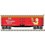 Atlas 3001572 O 40' Wood Reefer 3Rl Old Milwaukee