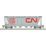 Atlas 20006360 HO Slab-Side Covered Hopper Master Canadian National 355151 12 Hatch Noodle Logo