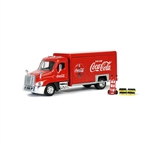 Atlas 25000020 1/50 Beverage Delivery Truck w/ 2 Sliding Doors Handcart 2 Cases Assembled Coca-Cola