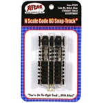 "Atlas 2509 N Straight Snap-Track Assorted Ties Includes Two 2-1/2"" Four 1-1/4"" & Four 5/8"" Sections"