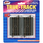 "Atlas 452 HO True-Track Code 83 Track & Roadbed System Straight Section 3"" pkg 4"