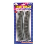 "Atlas 460 HO True-Track Code 83 Track & Roadbed System 18"" Radius Curve Sections Pkg 4"
