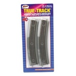 "Atlas 463 HO True-Track Code 83 Track & Roadbed System 22"" Radius Curve Sections pkg 4 150-463"