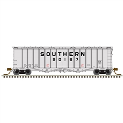 Atlas 50004796 N 4180 Airslide Covered Hopper RTR Master Southern Railway 90130 Gray Black Billboard Lettering 150-50004796
