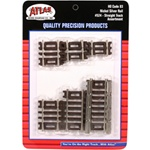 Atlas 524 HO Code 83 Snap Track Straight Sections 10-Piece Assortment