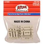 "Atlas 599 HO Concrete Tie 3"" End Snap"