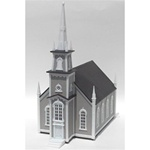 "Atlas 708 HO 19th Century Church Kit 9-1/2 x 4-3/4 x 10-3/4"" 23.8 x 11.9 x 26.9cm 150-708"