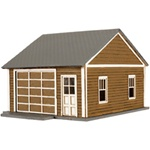 Atlas 735 HO Kim's Classic Garage Kit Laser-Cut Wood pkg 2 150-735