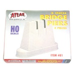 "Atlas 81 HO Bridge Pier 3"" 7.5cm 150-81"