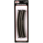 "Atlas 831 HO Code 100 Curved Snap-Track Nickel-Silver Rail 15"" Radius Ties pkg 6"