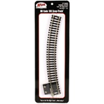"Atlas 845 HO Terminal Section Snap-Track Nickel-Silver Rail 18"" Radius Curved Black Ties"
