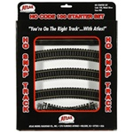 Atlas 88 HO Snap Track Code 100 Starter Set Nickel-Silver Rail Black Ties