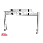 "Atlas BLMA4025 HO Modern Triple-Track Signal Bridge w/ 6 LED 3-Aspect Heads 8-9/16"" Leg Spacing"