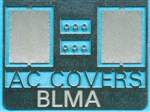 Atlas BLMA91 N Removed Cab Rooftop Air Conditioner Covers Etched-Metal Kit pkg 2 150-BLMA91