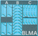 Atlas BLMA96 N Locomotive Windshield Wipers Etched-Metal Three Styles 150-BLMA96