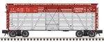 Atlas 2002408 O 40' Steel Stock Car 3-Rail Trainman Canadian Pacific