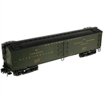 "Atlas 3001009 O Atlas O Master 53'6"" Wood Express Reefer 3-Rail Western Pacific Pullman Green Gold 151-3001009"