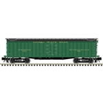 "Atlas 3001037 O General American 53'6"" Wood Express Reefer 3-Rail Master Nickel Plate Road green 151-3001037"