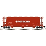 Atlas 3001225 O 3-Bay Cylindrical Hopper 3-Rail Master Potacan brown 151-3001225