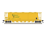 Atlas 3002229 O 6-Bay Cylindrical Hopper 2-Rail Master Illinois Terminal green 151-3002229