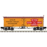 Atlas 3001428 O 36' Wood Reefer w/ Truss Rods 3-Rail Master Agar Packing Co.