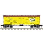 Atlas 3001430 O 36' Wood Reefer with Truss Rods 3-Rail Master Lange Creamery