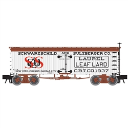 Atlas 3001435 O 36' Wood Reefer w/ Truss Rods 3-Rail Master Scharwzchild and Sulzberger Lard