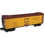 Atlas 3001530 O 40' Rebuilt Wood Reefer 3-Rail Delaware Lackawanna & Western