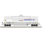 Atlas 3001730 O 42' Coil Steel Car w/ Fishbelly Side Sill 3-Rail GE Railcar DLRX Gray Blue Red