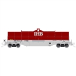 Atlas 3001731 O 42' Coil Steel Car w/ Fishbelly Side Sill 3-Rail Indiana Harbor Belt Ex-NS Red Gray White