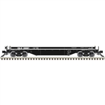 Atlas 3001732 O 42' Coil Steel Car with Fishbelly Side Sill No Cover 3-Rail Inland Steel Black