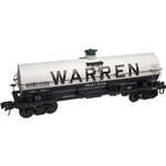 Atlas 3006502 O 11k-Gallon Tank Car No Platform 2-Rail Master Warren Petroleum