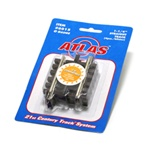 "Atlas 6015 O 21st Century Track System Nickel Rail w/Brown Ties 3-Rail Straight 1-1/4"" 3.2cm pkg 4"