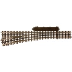 Atlas 6024 O 21st Century Track System Nickel Rail w/Brown Ties 3-Rail #5 Turnout Left Hand